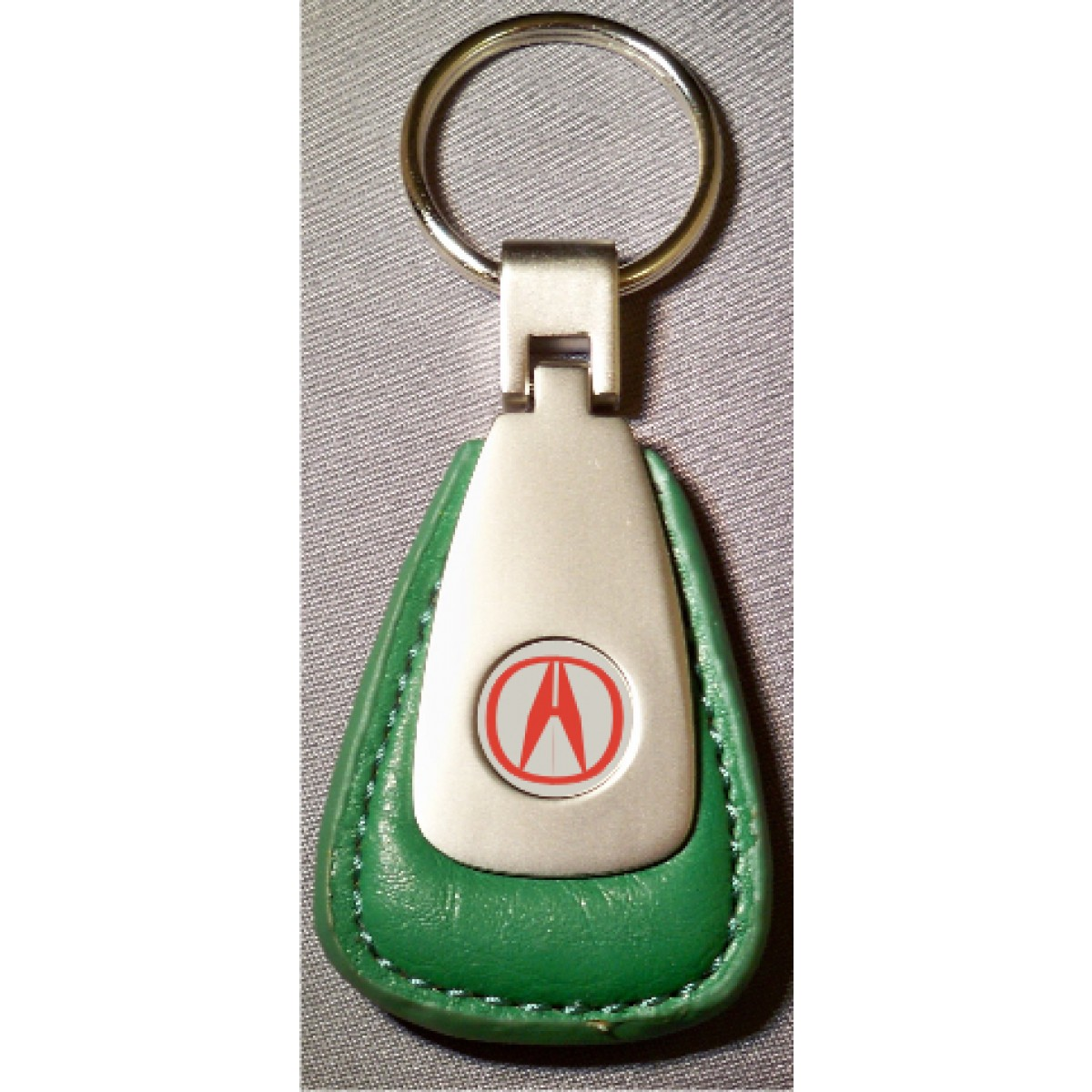 Acura Red Emblem: ACURA RED LOGO GREEN LEATHER FOB