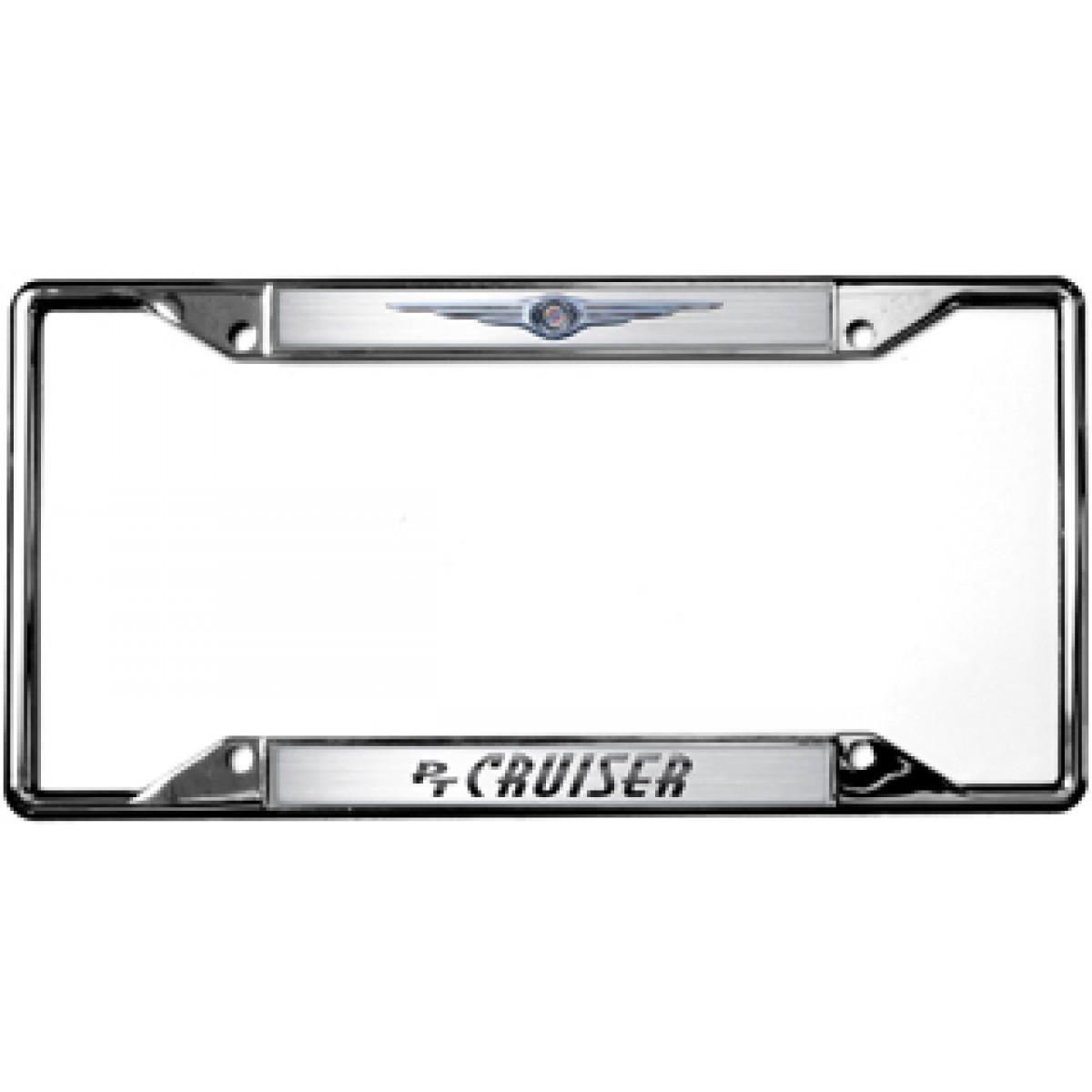 Chrysler logo pt cruiser license plate frame