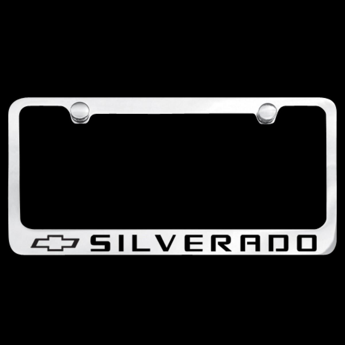 Hossrods Com Chevy Silverado License Plate Frame Chrome