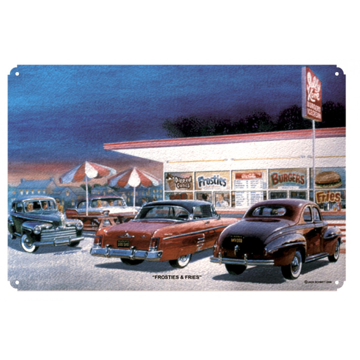 garage art by jack schmitt frosties fries. Cars Review. Best American Auto & Cars Review