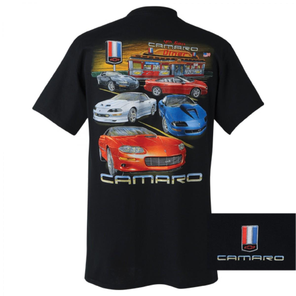 6059bf457d05b HossRods.com | Chevy Camaro 4th Generation T Shirt | Hot Rod ...