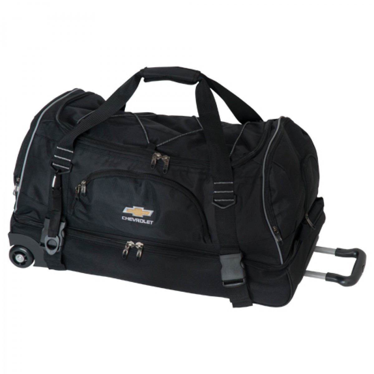 74a41ee13444 Chevrolet Rolling Duffel Bag with Gold Bowtie