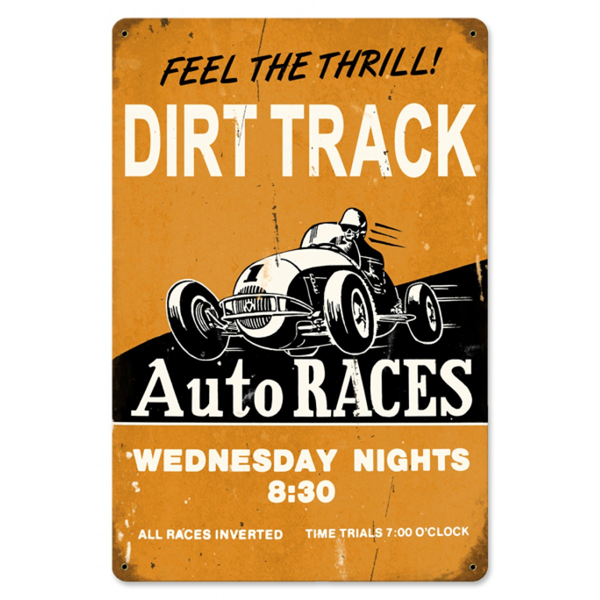 Dirt track garage art collections metal for Dirt track garage