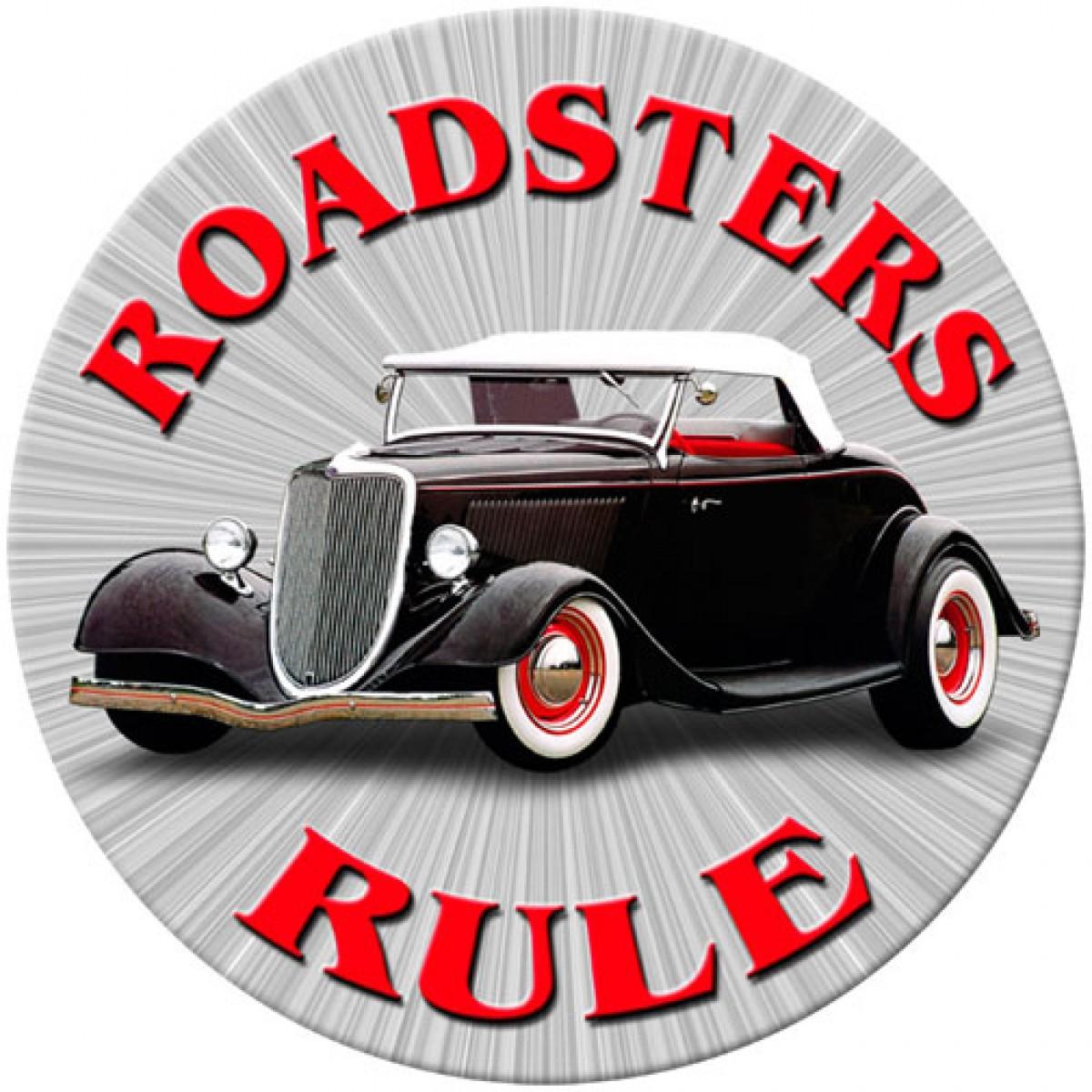 Roadsters Rule - Hot Rod Garage - Metal