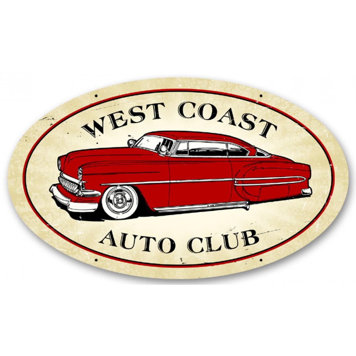 Automotive Tin Signs : Hossrods west coast auto metal signs gameroom