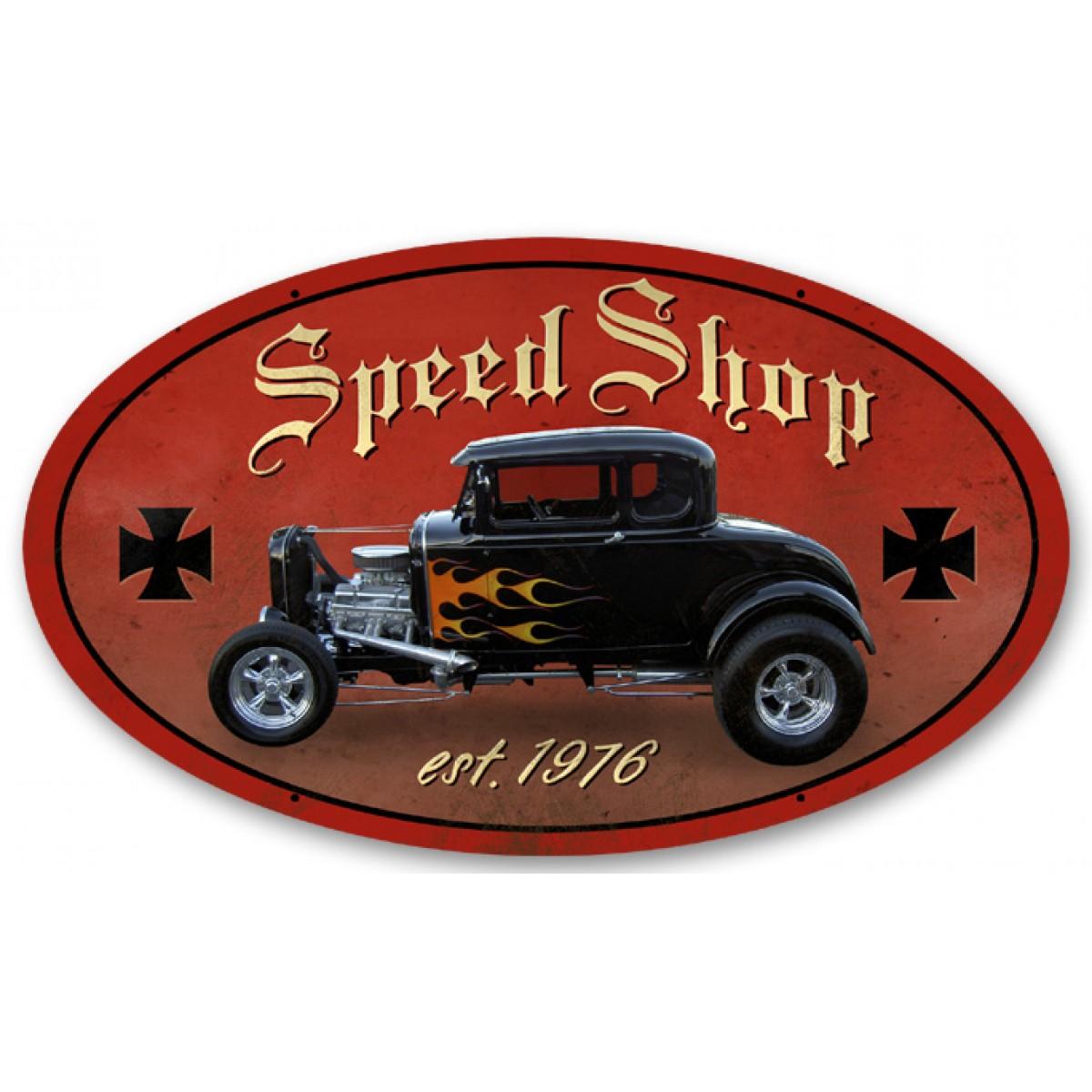 Speed Shop - Hot Rod Garage - Metal Signs