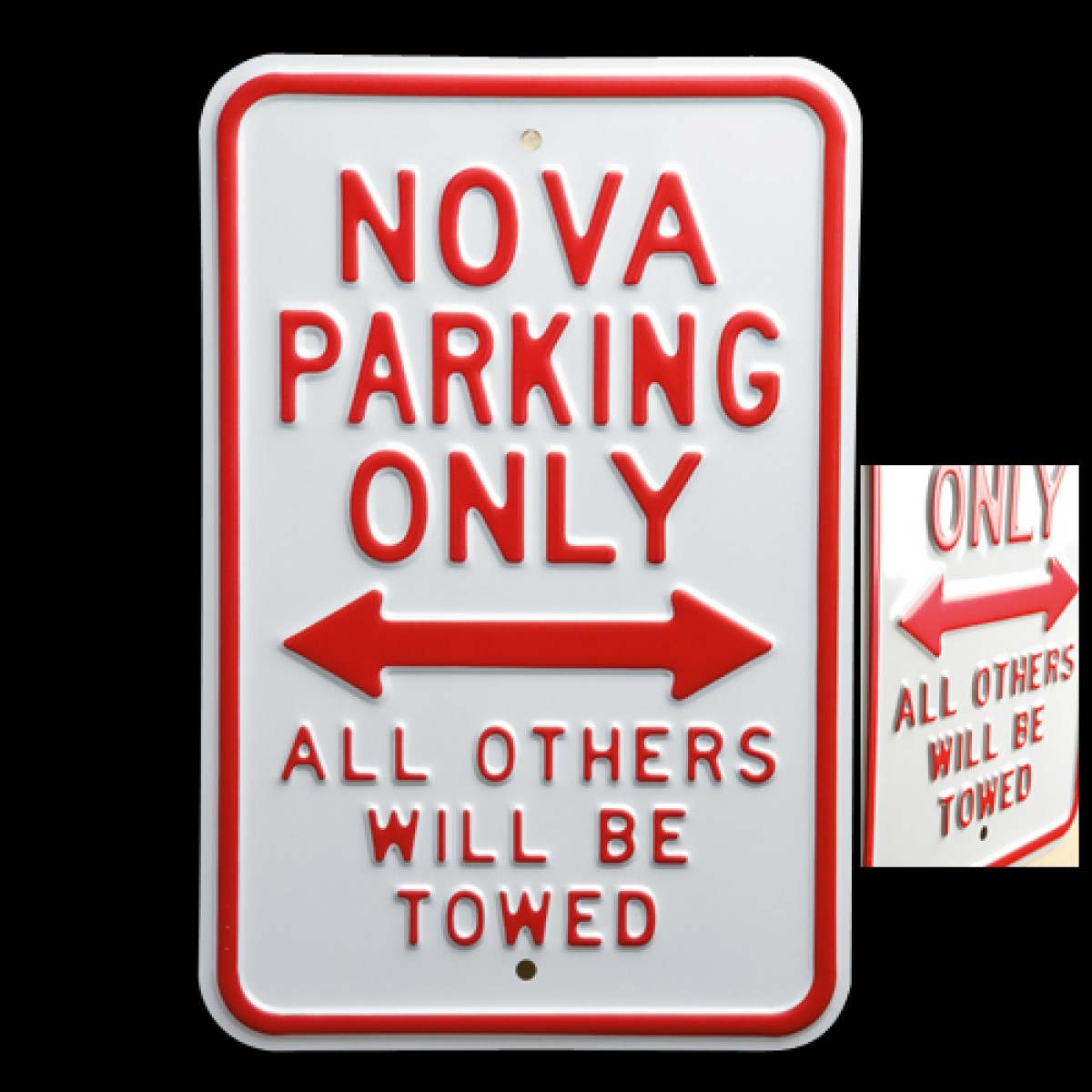 hossrodscom chevy nova parking sign hot rod accessories garage gear