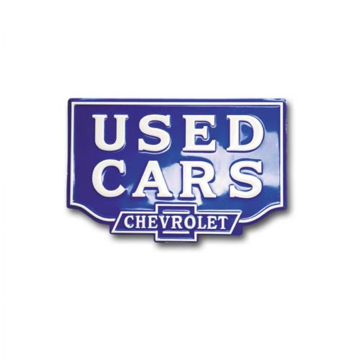 Used Metal Signs : Hossrods chevrolet used car embossed metal sign