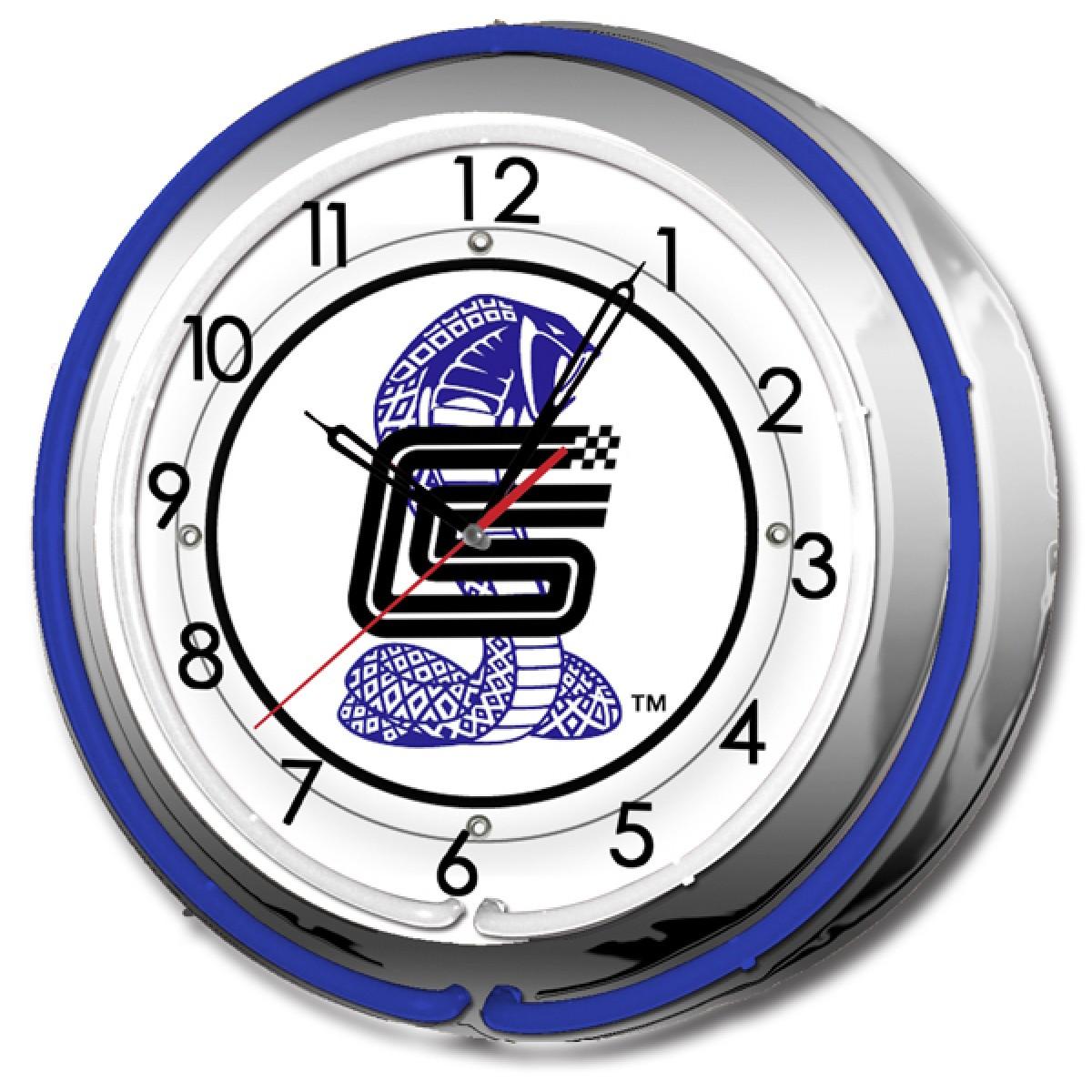 Shelby Cobra Double Neon Clock