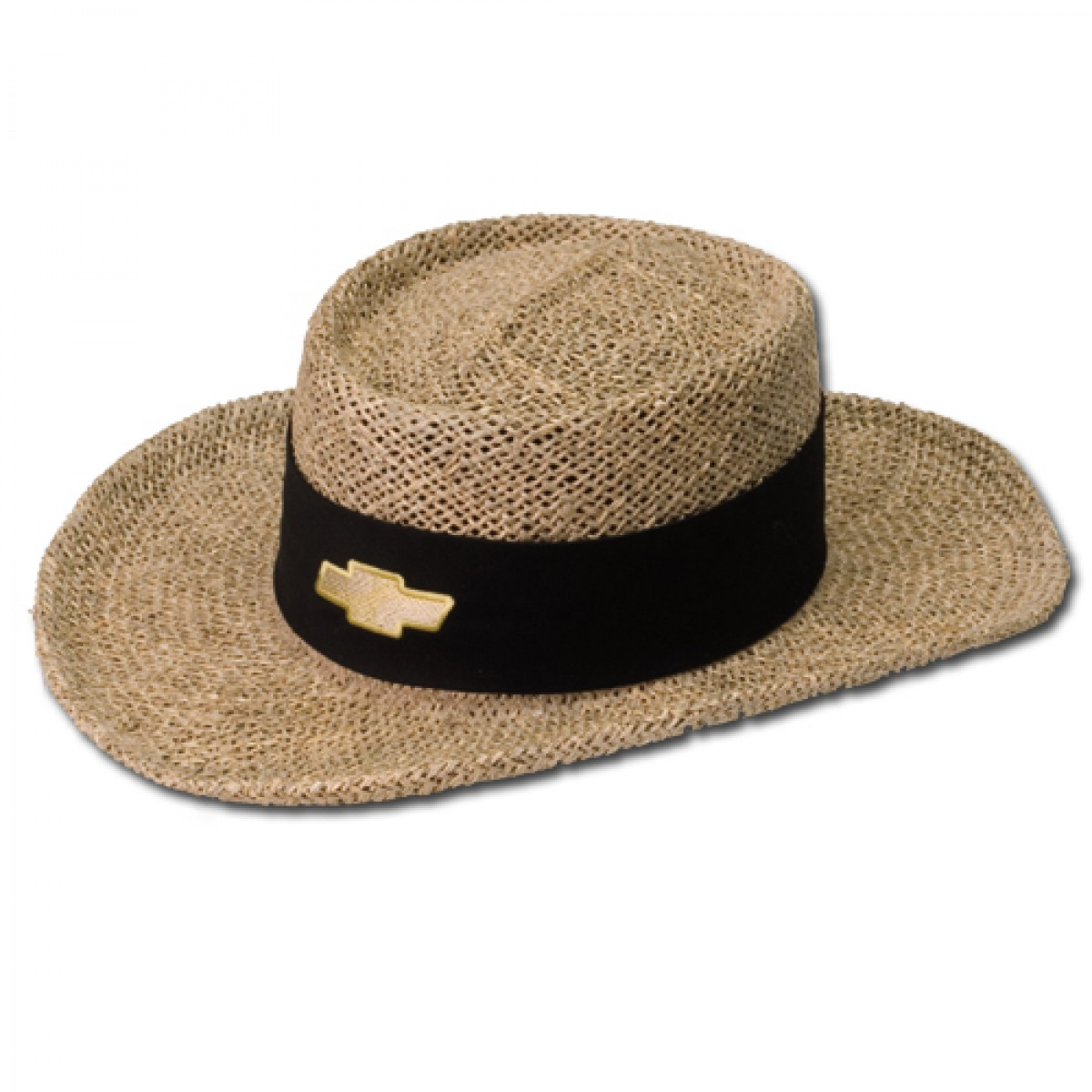 Hossrods Com Natural Straw Hat With Chevy Bowtie Hot