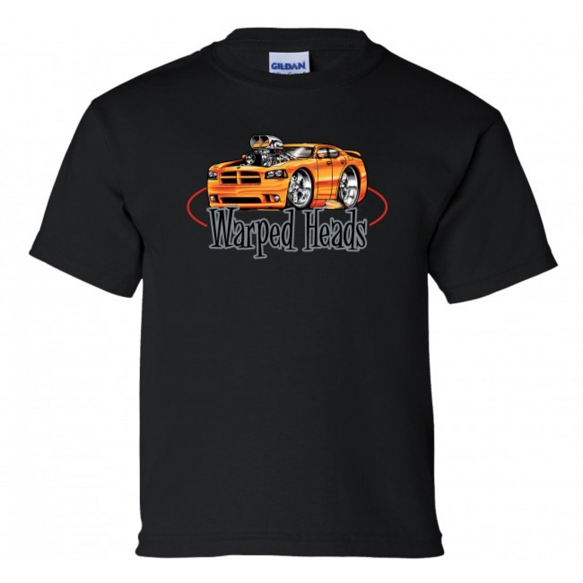 06 Dodge Charger Warped Heads Youth T Shirt