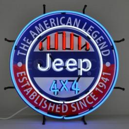 Jeep 4x4 American Legend Neon Sign