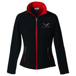 C7 Corvette Stingray Ladies Soft Shell Jacket