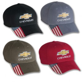 Chevrolet Hat with American Flag