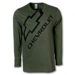 Chevy Long Sleeve Distressed Shirt