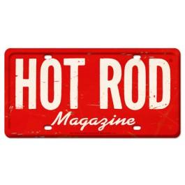 HOT ROD Magazine Vintage License Plate