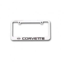 C4 Corvette License Plate Frame Chrome