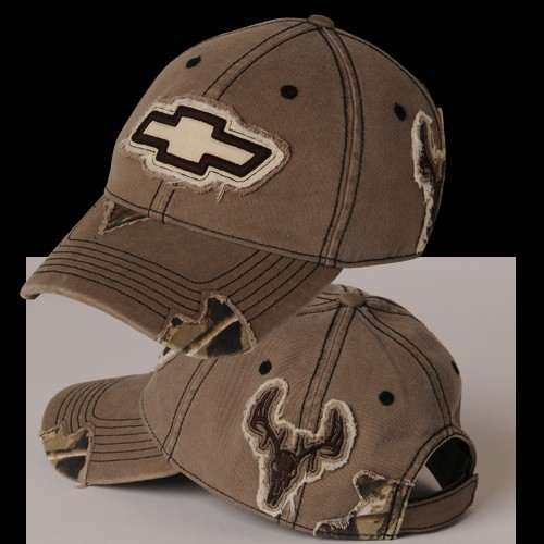 Hossrods Com Chevy Camo Frayed Buck Hat Hot Rod Accessories Garage Gear And More
