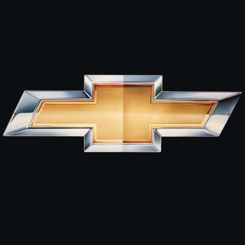 Hossrods 2010 Chevy Gold Bowtie Metal Sign Gameroom Garage