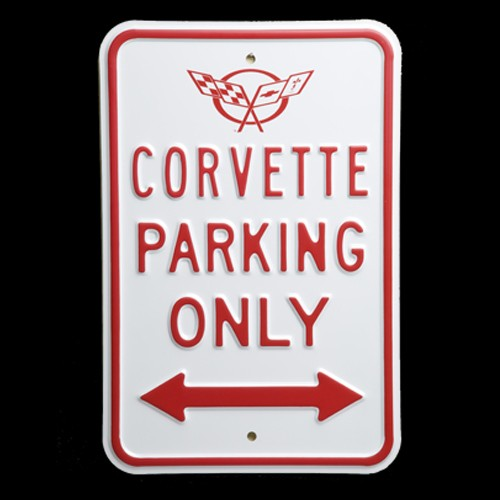 Corvette Signs Garage : Hossrods c corvette parking sign hot rod