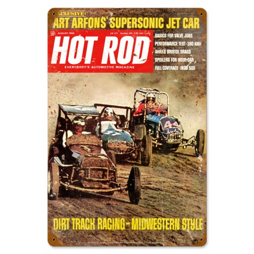Hot rod magazine cover dirt track aug for Dirt track garage