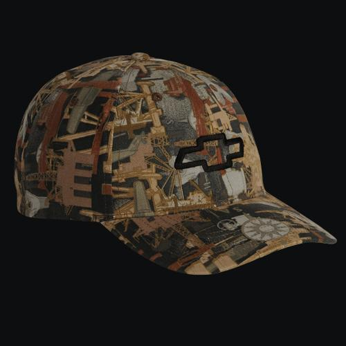 CHEVY BOWTIE OIL FIELD CAMO CAP
