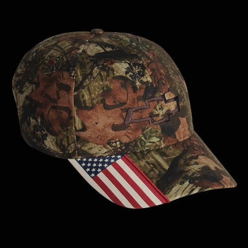 Hossrods Com Chevy Camo Hat With American Flag By Mossy