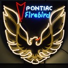 Pontiac Gold Neon Sign with Backing