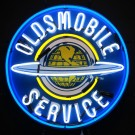 GM Oldsmobile Service Neon Sign with Backing