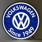 Volkswagen Since 1949 Backlit 15 Inch LED Lighted Sign