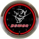 Dodge Demon Neon Clock