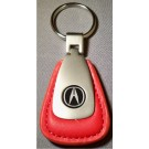 ACURA BLACK LOGO RED LEATHER FOB