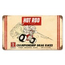 """Championship Drag Racing At Riverside Raceway 1964"" Vintage Sign from our Hot Rod Magazine Collection"