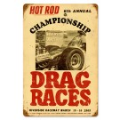 """Championship Drag Races"" Sign from our Hot Rod Magazine Collection"