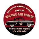 Miracle Car Repair Sign by Busted Knuckle 14 x 14