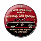 Miracle Car Repair Clock by Busted Knuckle 14 x 14