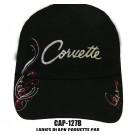 Ladies Black Corvette Hat