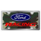 Camo Ford Racing - License Plate - Stainless Style