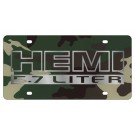 Dodge 05-Cure HEMI with 5-7L License Plate - Lazer Style