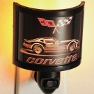 Corvette with Crossflags Night Light