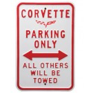 C6 Corvette Parking Sign