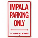 Chevy Impala Parking Sign