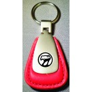 VIPER BLACK LOGO LOGO RED LEATHER FOB