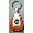 HUMMER BROWN LEATHER FOB