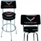 C7 Corvette Racing EZ-Comfort Pub Stool with Back