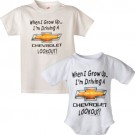 Chevy When I Grow Up Onesie and Toddler T Shirt