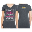 Girl in Love with Her Chevy T Shirt