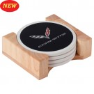C7 Corvette Flag Stone Coaster Set