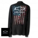 Chevy Skull with Stripes Long Sleeve Shirt with Bowtie