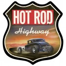 """Hot Rod Highway"" Sign from the Hot Rod Magazine Collection"